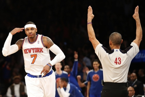 Carmelo Anthony led Knicks to victory over Lakers